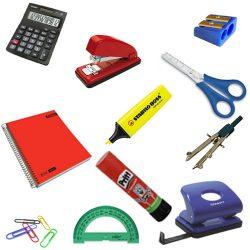 School supplies (vocabulario de imagenes en inglés material escolar)