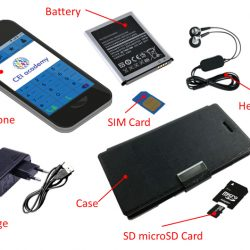 Mobile phones and accessories (teléfono móvil y accesorios en inglés)