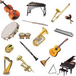 Musical Instruments (Vocabulario de imágenes de instrumentos musicales en inglés)
