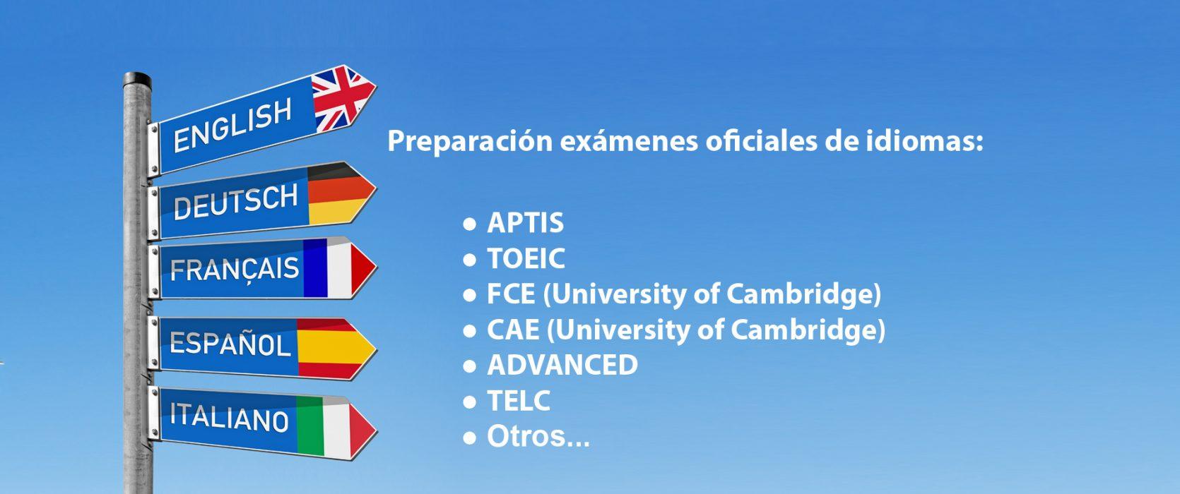 Preparación exámenes oficiales: APTIS, TOEIC, FCE, CAE, Advanced, TELC, OTROS