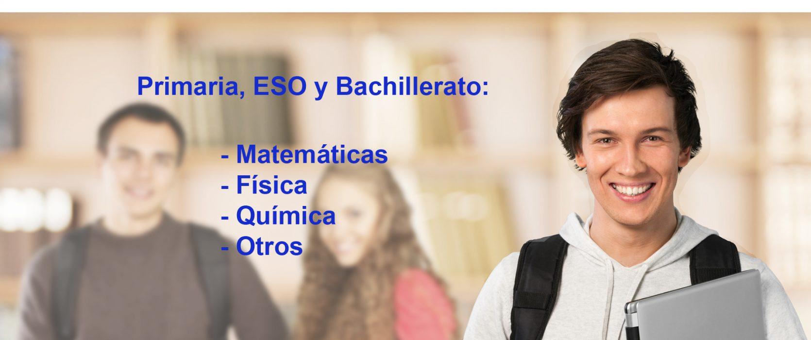 Primaria, Eso y bachillerato: matemáticas, física, química, otros