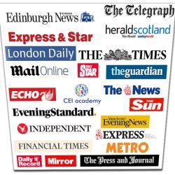 Los diarios y periódicos Online de Inglaterra