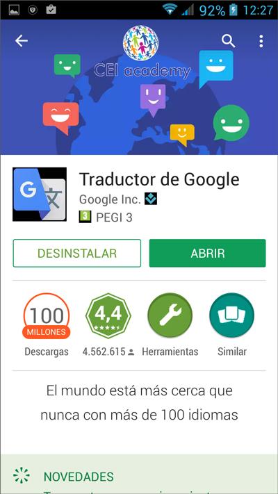 Venta abrir la aplicación