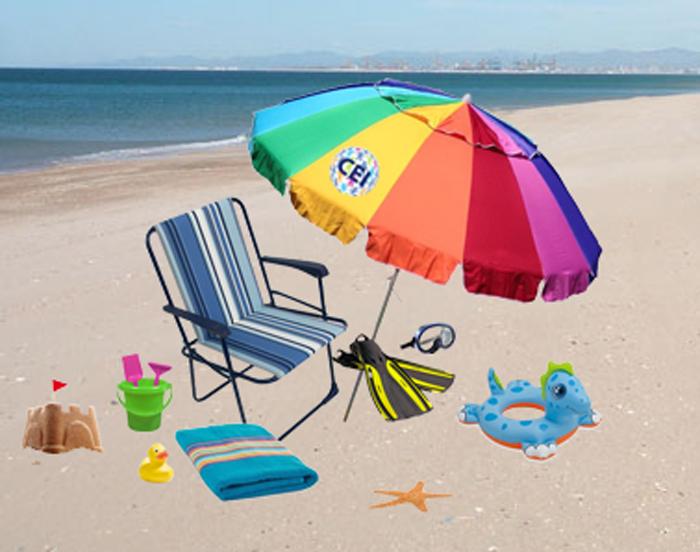 On the beach, vocabulario de inglés en la playa